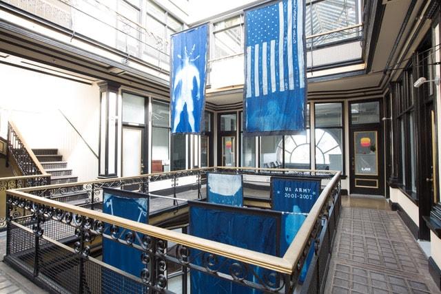 Market Arcade Atrium - Odyssey Warriors Come Home Exhibit - 2019 - CEPA Gallery - Buffalo NY © 2019 Rob McElroy