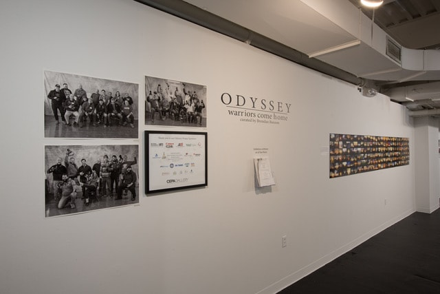 Underground Gallery - Odyssey Warriors Come Home Exhibit - 2019 - CEPA Gallery - Buffalo NY © 2019 Rob McElroy