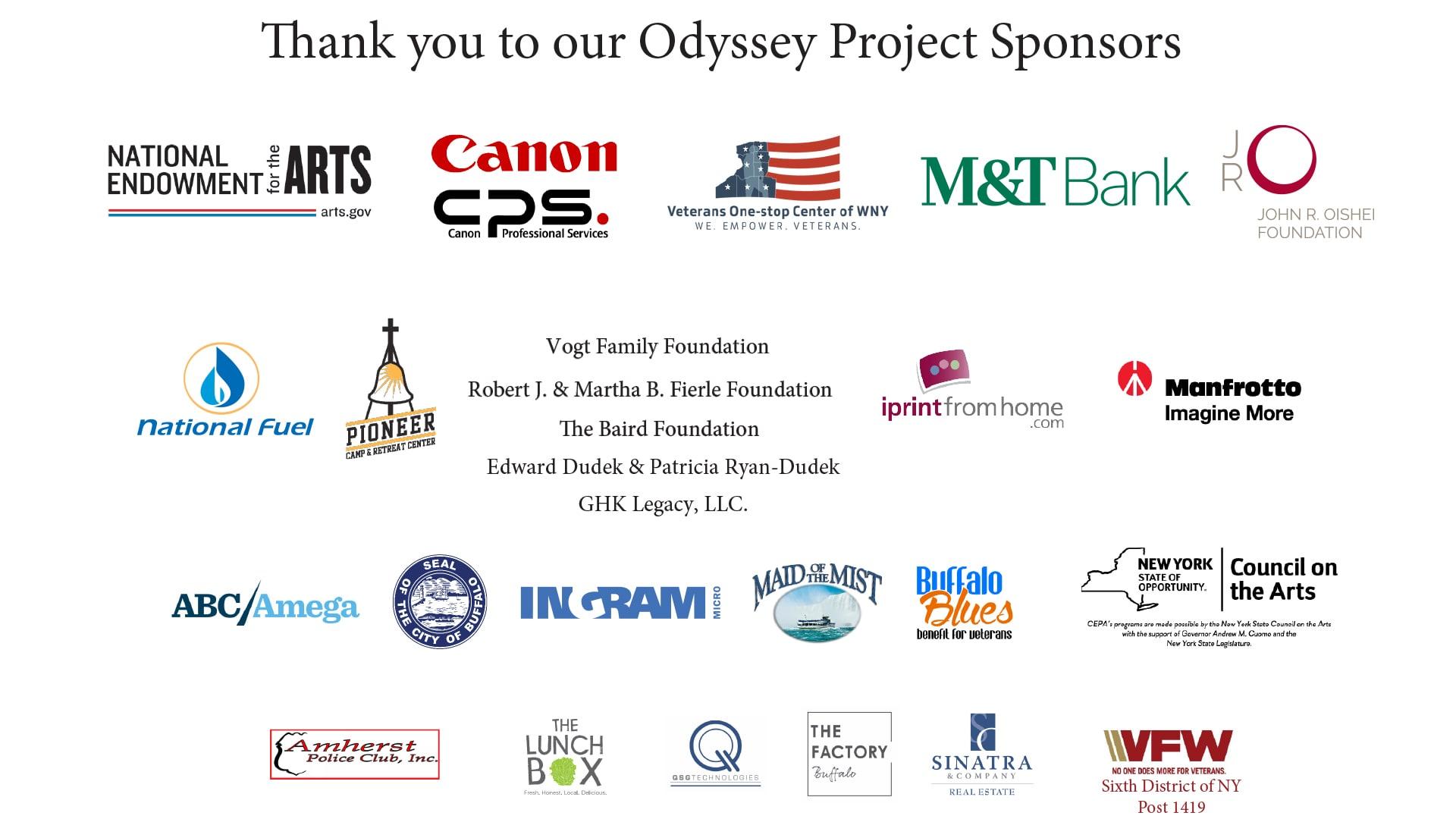 The Odyssey Project Sponsors - CEPA Gallery - Buffalo NY