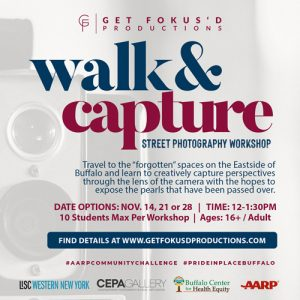 Aitina Fareed-Cooke, Walk & Capture Class Flyer