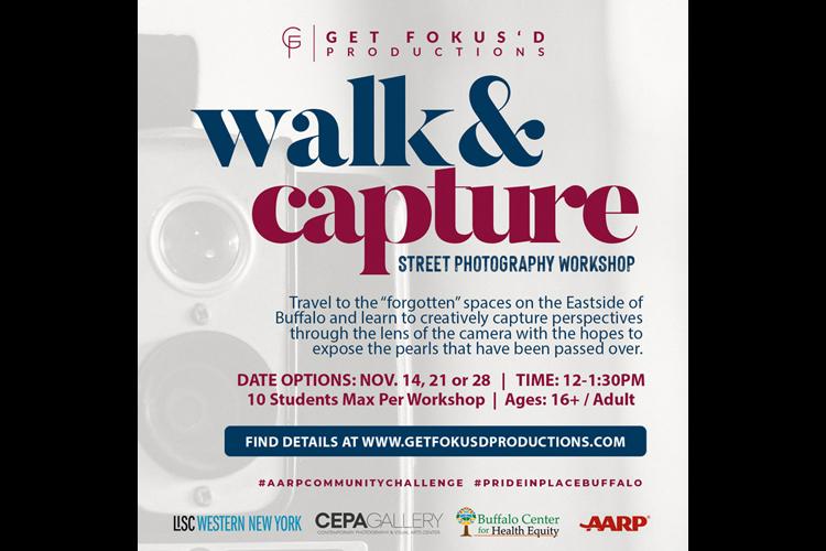 Aitina Fareed-Cooke, Walk & Capture Class Flyer