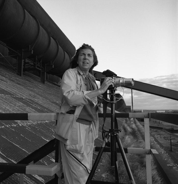 Photo of Patricia Layman Bazelon at the Bethlehem Steel Plant 1989