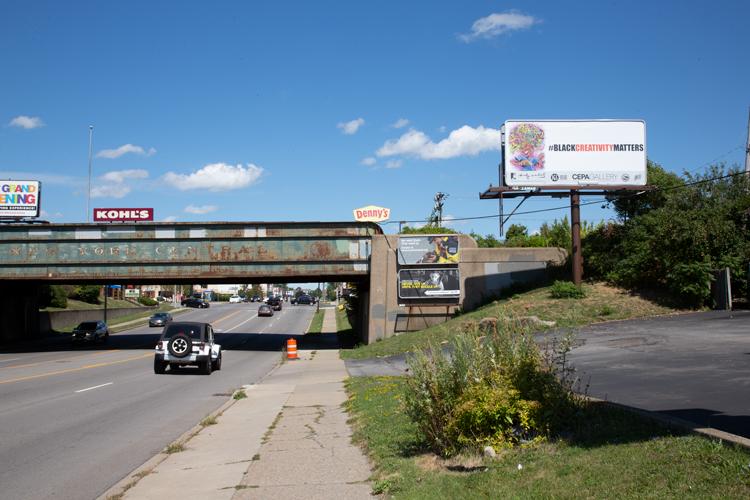 Stacey Robinson Black Matters Billboards around Buffalo
