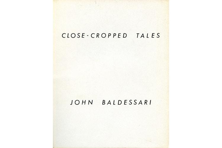 CEPA Gallery publication, Close-Cropped Tales by John Baldessari, 1981
